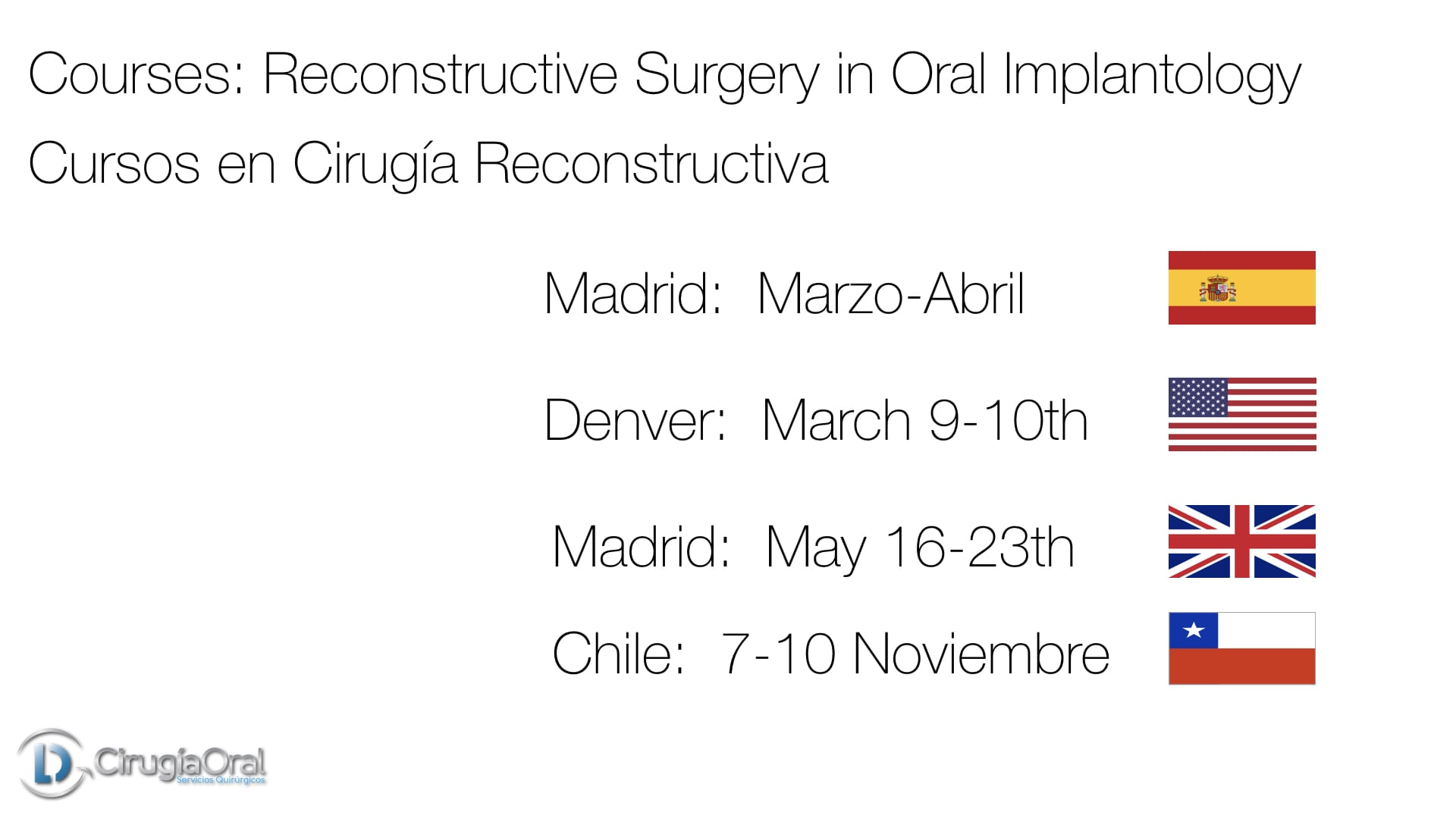 Next Courses in Bone Reconstructive Surgery